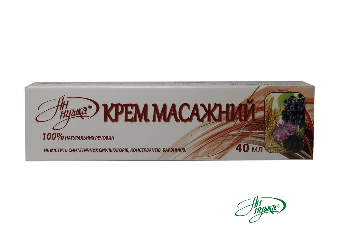 "Massage cream ""An-Nushka""® based on vegetable oils"
