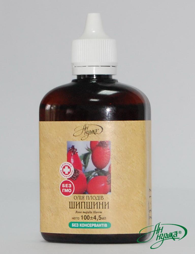 Олія плодів шипшини, ліпофільний комплекс, 100 мл, загальний каротин не менше 40мг%