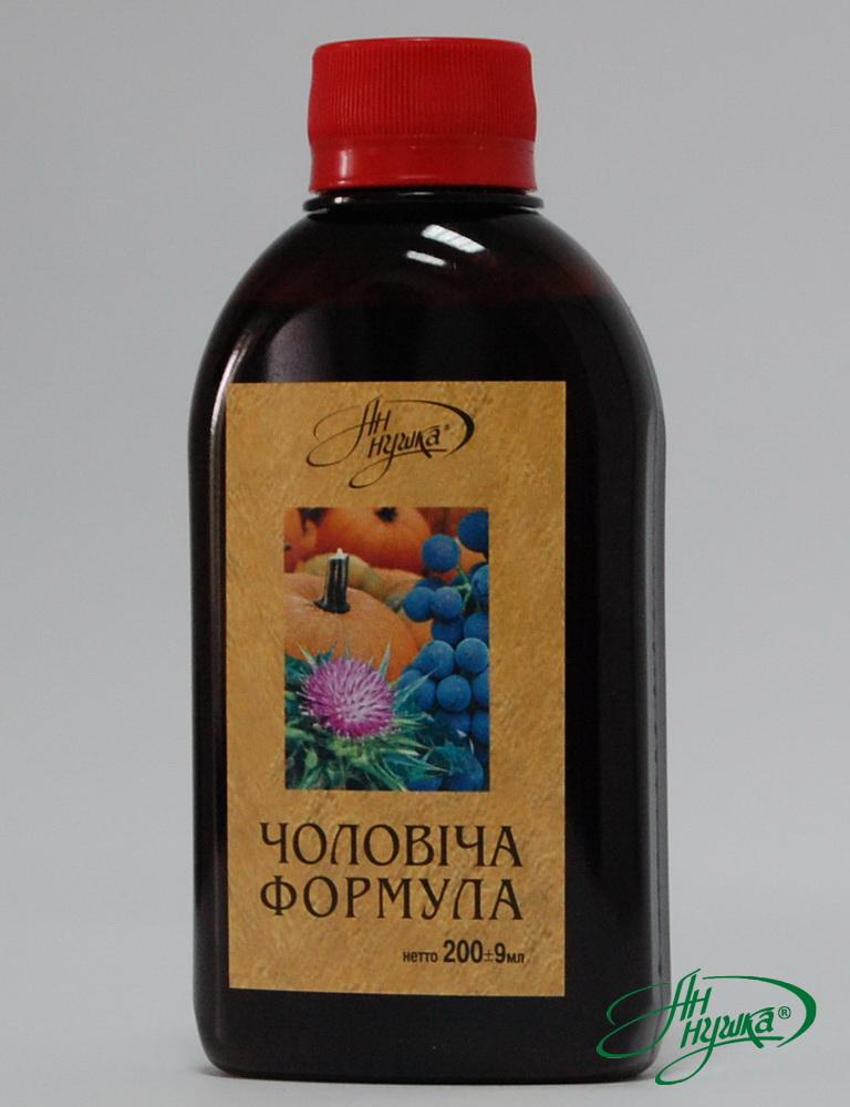 «Мужская формула», липофильный комплекс, 200мл, общий каротин не менее 10 мг%