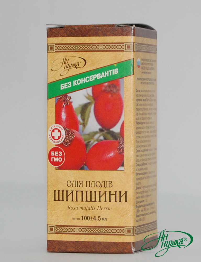 OIL OF DOG ROSE FRUITS Lipophylic complex 100ml Total carotene content is not less than 20 mg%